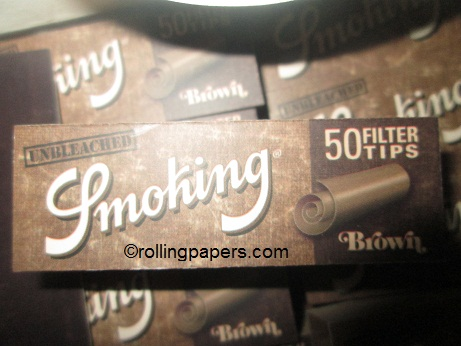 Smoking Brand Brown Single Wide Booklet